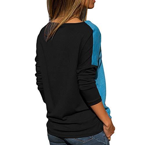 Blouse Bleu pour Blouse de Shirt Femme L'automne Avanon Chemise Longues Femme re Vtements clair Mode Piq Manches Tops awxqcBvP