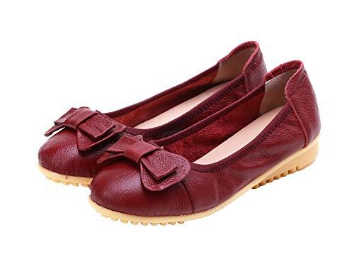 Chaussures Bas Légeres Couleur Talon Agoolar À Rouge Gmbda015899 Tire Femme Vineux Unie AWq0Z