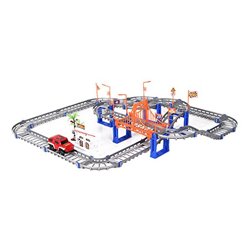 Jesse Electricレール車グレートラックRoller Coaster Toyスパイラル二層DIY建物子供子ギフト