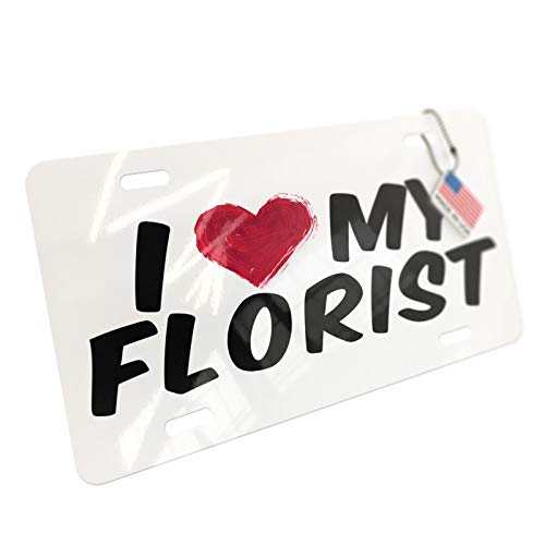NEONBLOND I Heart Love My Florist Aluminum License Plate - From The Heart Florist