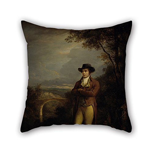 Slimmingpiggy 20 X 20 Inches / 50 by 50 cm Oil Painting Alexander Nasmyth - Robert Burns, 1759-1796. Poet Cushion Covers,Both Sides Ornament and Gift to Dinning Room,Boys,Girls,Lounge,Couch,festi