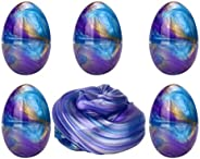 Anditoy 5 Pack Slime Eggs Galaxy Easter Egg Slime Putty Stress Relief Toy for Kids Boys Girls Easter Basktet Stuffers Filler