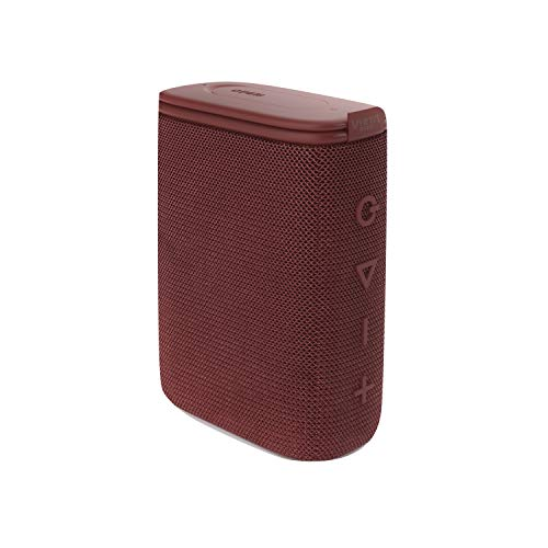 Vieta Pro Round Up 2 Lautsprecher, mit Bluetooth 5.0, True Wireless, Mikrofon, Radio FM, 12 Stunden Akkulaufzeit, IPX7-Wasserdichtigkeit und AUX-Eingang; in der Farbe Bordeaux.