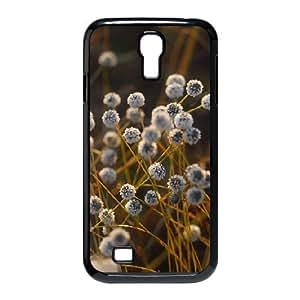 Okaycosama Ball Flowers Samsung Galaxy S4 Case Protector for Girls, Phone Case for Samsung Galaxy S4 M919 [Black]