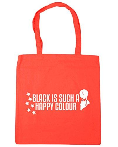 Bag x38cm Coral HippoWarehouse Colour 42cm 10 Shopping Beach Black Tote Happy litres Gym Is A Such qq7axwWTZv