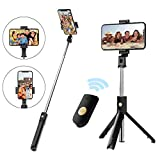 Selfie Stick Tripod with Removable Wireless Bluetooth Remote Shutter Compatible,Mini Pocket Selfie Stick for iPhone 11/XR/X/8/8P/7/7P/6s/6 Samsung Galaxy S9/8/7 Note 9/8/7 Nubia