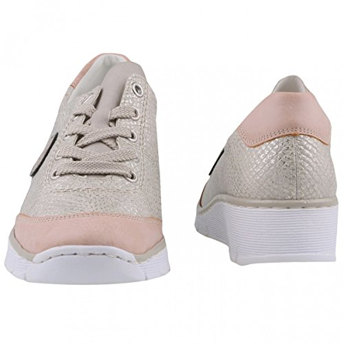 para 31 cordones ice ice 53724 mujer Rieker de altsilber Zapatos rose IqwZPIX5