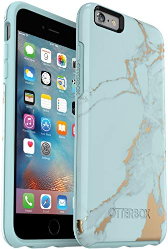 OtterBox Symmetry Series Slim Case for iPhone 6s Plus & iPhone 6 Plus (NOT 6/6s) - Retail Packaging - Teal Marble