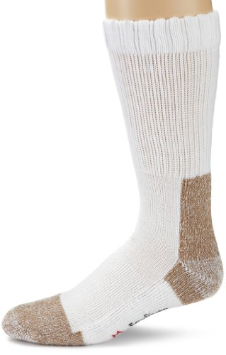 Fox River Steel-Toe Mid-Calf Boot Work Sock (White, Medium),Set of 2 pairs