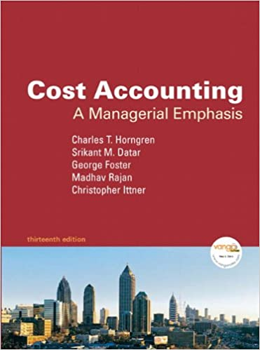 cost accounting 13th edition horngren test bank
