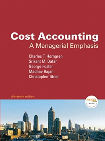 cost accounting a managerial emphasis value package includes rh amazon com garrison managerial accounting 13e solutions manual Managerial Accounting Formulas Cheat Sheet
