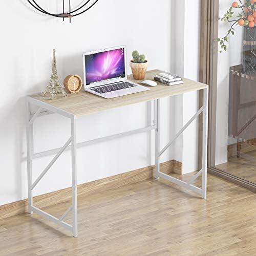 Elephance Folding Computer Desk 39 inches Study Office Desk