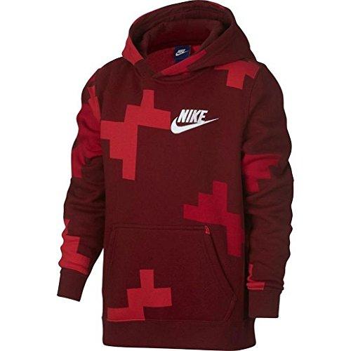 AOP Pullover Hoodie (Team Red/University Red/White, Medium) ()