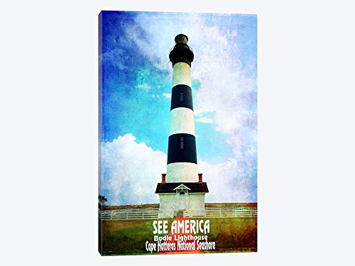 Canvas Wall Art - Bodie Lighthouse Cape Hatteras National Seashore - 18