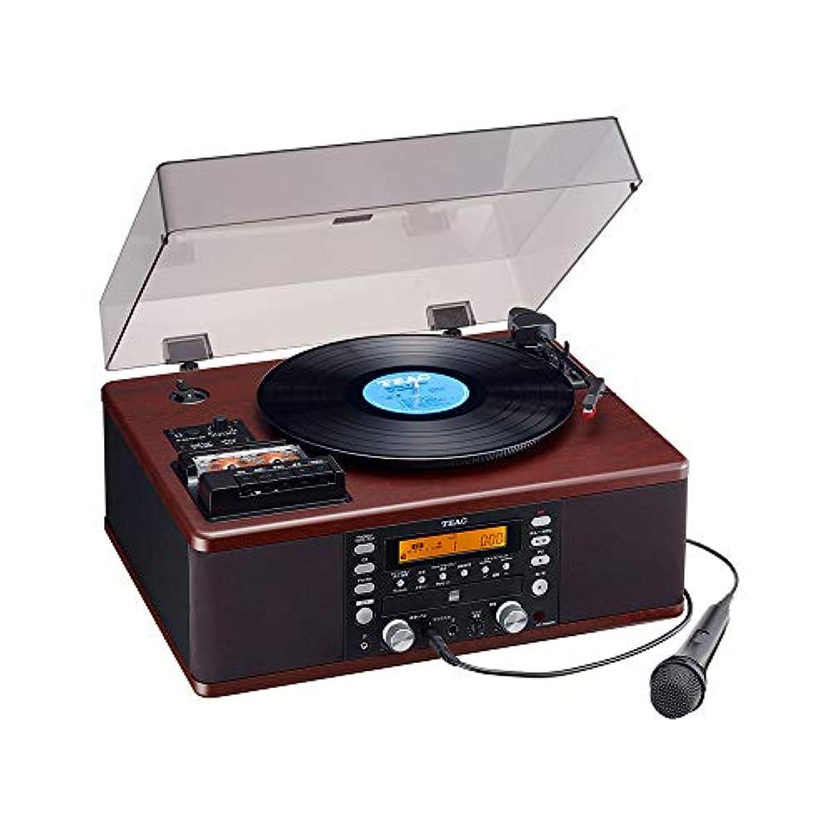 [해외] TEAC LP-R560K 턴 테이블 [ 레코드 플레이어/카세트 플레이어/CD플레이어/라디오 튜너] 컬러오케 기능 첨부 와 티악(Teac)