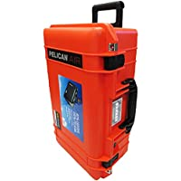 Pelican Colors series Orange & Black Pelican 1535 Air case with Foam. With wheels.