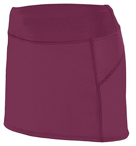 Augusta Sportswear Women's Wide Flat Knit Skort, Red/Graphite, X-Large