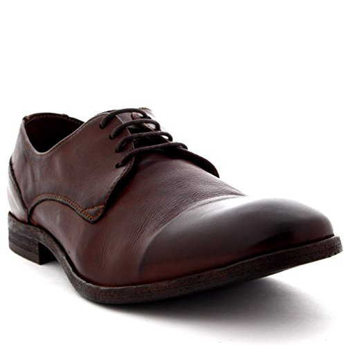 H by Hudson Men's Dylan Oxford, Brown, 44 EU/11 M US by H by Hudson