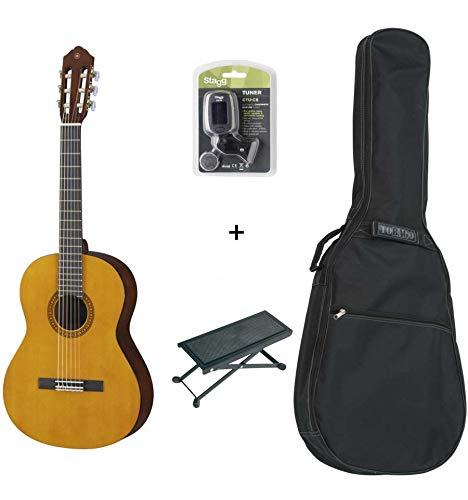 Pack Yamaha CS40 3/4 –  Klassische Gitarre 3/4 (+ Stimmgerä t, Tasche und Fuß stü tze)