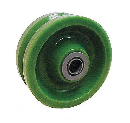 """Albion XV0420212 4"""" Polyurethane V-Groove Caster Wheel, 2..."""