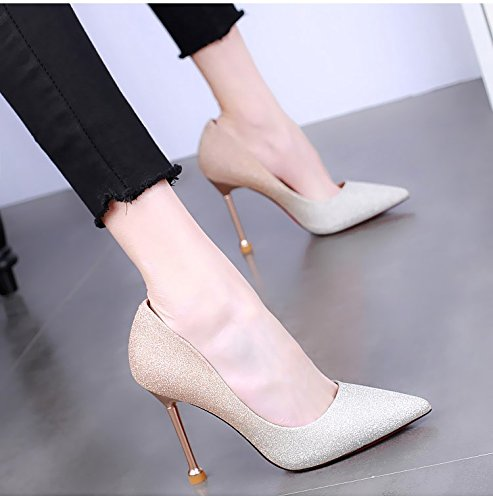 Spring High Champagne Summer Shoes 10Cm Heels Heels Princesses Spikes KPHY Thin color Cat Wild Women'S Sexy And Shoe q1gnPR4x
