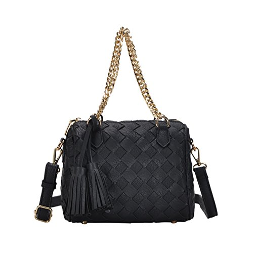 Madison West Sara Satchel Bag: Black BGW-8685 ()