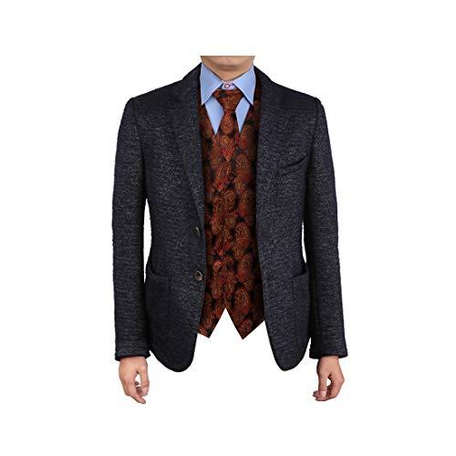- Epoint EGD2B05C-M Red Gold Vest Paisley Microfiber Christmas Tuxedo Vest Neck Tie Set Fantastic Gentlemen