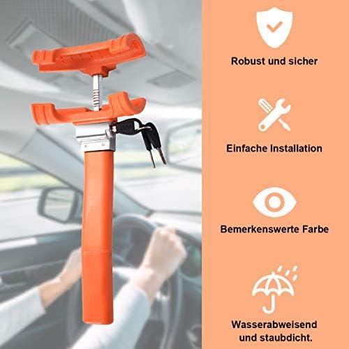 Goplus Lenkradkralle Für Auto Lenkradschloss Radschloss Lenkradsperre Wegfahrsperre Diebstahlsicherung Fahrzeugsicherheit Schutz Mit 3 Schlüsseln Auto