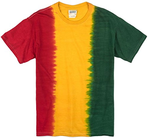 Mens RASTA Tie Dye T-Shirt, XL (no print)