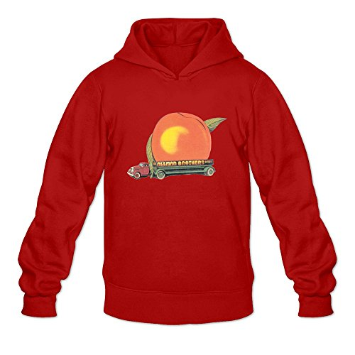Leberts Red The Allman Brothers 100% Cotton Hoodies For Man Size - Promotions Allman