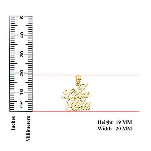 TGDJ 14K Yellow Gold I Love You Heart Pendant - Height 19 MM Width 20 MM by Top Gold & Diamond Jewelry (Image #2)