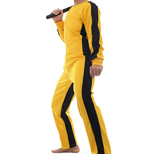 COSFLY Men's Martial Arts Costume Chinese Kungfu Jumpsuit Halloween Party (Medium)