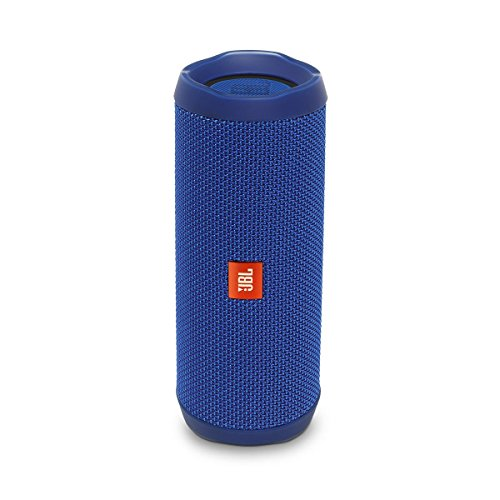 JBL Flip 4 Waterproof Portable Rechargeable Bluetooth Wireless Speaker with Echo Cancelling Speakerphone, Blue (Non-Retail Packaging)