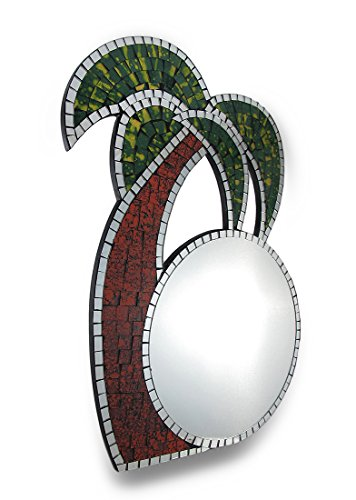 Tropical Mosaic Glass Palm Tree Wall - Glass Palm Mirror