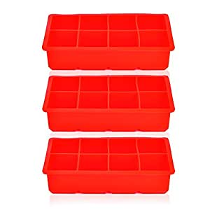 Riverbyland Silicone Ice Cube Trays 8 cubes Set of 3