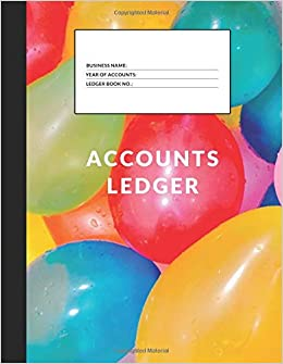 amazon com accounts ledger simple accounts ledger for home or