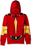 Marvel Boys' Little Iron Man Costume Zip-up Hoodie, red, 7