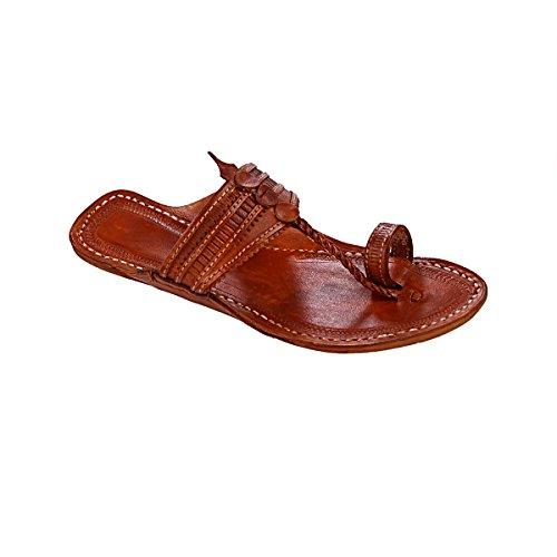 Men Pointed For Tan Kolhapuri Original Sandal Color Slipper Beautiful Chappal wq6Wwnxg