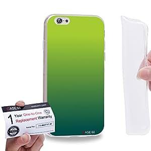 "Case88 [Apple iPhone 6 / 6s (4.7"")] Gel TPU Carcasa/Funda & Tarjeta de garantía - Art Design Gradient St Patrick"
