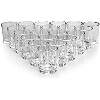 Letine Glass Votive Candle Holders Set of 72 - Clear Tealight Candle Holder Bulk - Ideal for Wedding Centerpieces & Home Decor