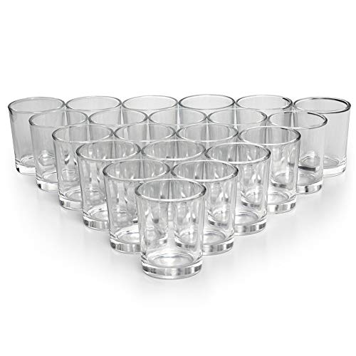 Tealight Votive Holder - Letine Glass Votive Candle Holders Set of 72 - Clear Tealight Candle Holder Bulk - Ideal for Wedding Centerpieces & Home Decor