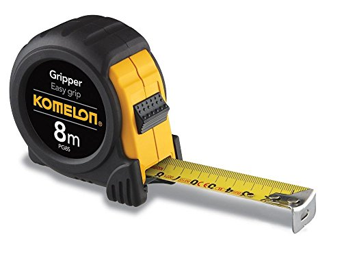 Imperial Metric Measuring System Acrylic - Komelon PG85 8M Metric Gripper Acrylic Coated Steel Blade Tape Measure, 2-Pack
