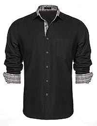 Coofandy Men's Casual Long Sleeve Dress Shirt Button Down Shirts