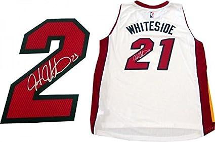 862afbc8187 Hassan Whiteside Autographed Jersey - Miami Heat Swingman - Autographed NBA  Jerseys