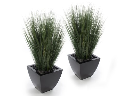 Closer2Nature Artificial 3ft Onion Grass Plants x 2 - Artificial Silk Plant and Tree Range ()