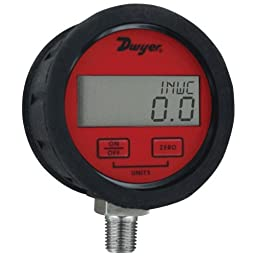 Dwyer DPGAB Series Digital Pressure Gauge with Boot, Dry Air, Range 0 to 200 psig