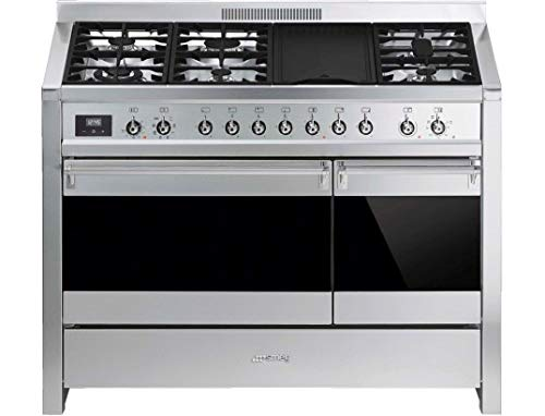 Smeg Opera A3-81 120cm Dual Fuel Range Cooker – Stainless Steel – B/B Rated – 1 Year Warranty