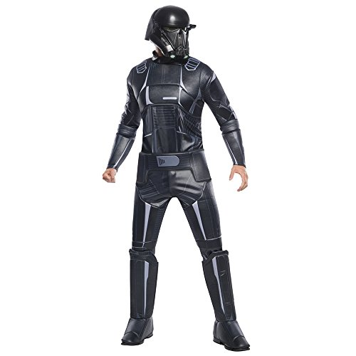 Rubie's 630302-M Costume Co Rogue One: A Star Wars Story Child's Super Deluxe Death Trooper Costume, Medium, Multicolor