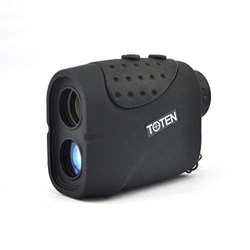 Toten Range Finder 6x21 Laser Rangefinder for 1000m Hunting Golf Rain (Black) by Toten