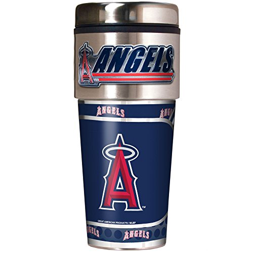 MLB Los Angeles Angels Metallic Travel Tumbler,  16-Ounce - Anaheim Angels Tumbler